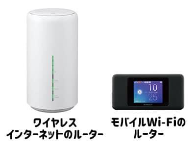 モバイルWi-Fiとワイヤレスインターネットのルーター比較